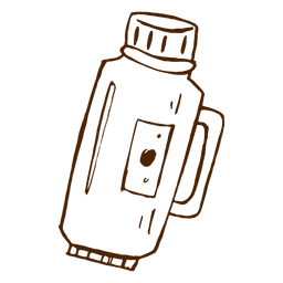 Hand drawn thermos icon