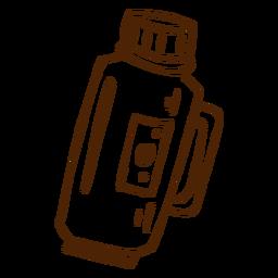 Mão, desenhado, thermos, ícone