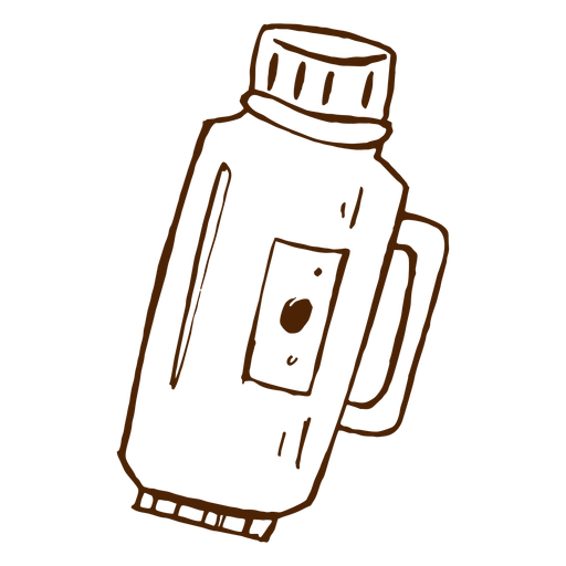 Hand drawn thermos icon Transparent PNG