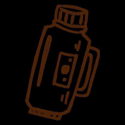 Mão, desenhado, thermos, ícone Transparent PNG