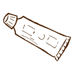 Handgezeichnete Zahnpasta-Symbol