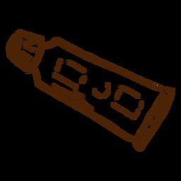 Mão desenhada ícone de pasta de dentes