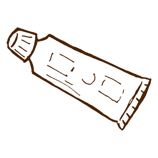 Hand drawn toothpaste icon