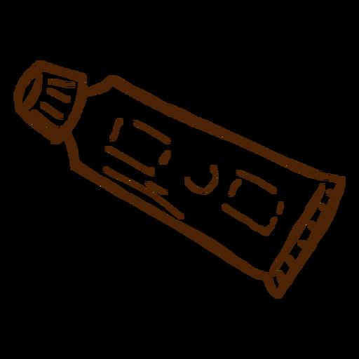 Ícone de pasta de dente desenhado à mão