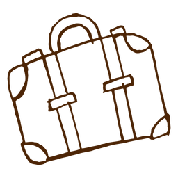 Hand drawn travel bag icon