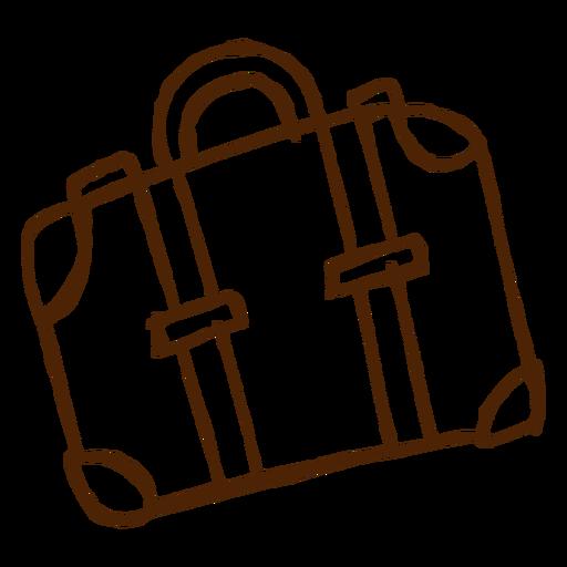 Ícone de mala de viagem desenhada de mão Transparent PNG