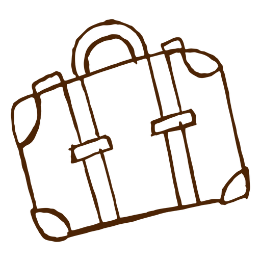 Hand drawn travel bag icon Transparent PNG