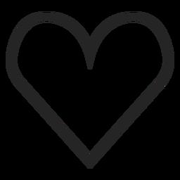 Dibujado a mano icono de corazón lindo