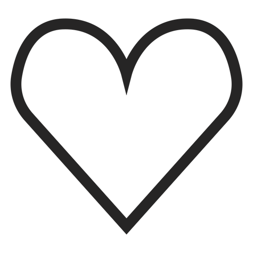 Hand drawn cute heart icon Transparent PNG