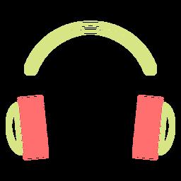 Icono de estilo de línea de auriculares
