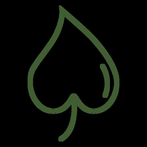 Icono de fruta en forma de corazón Transparent PNG