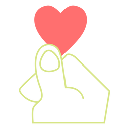Vector de estilo de línea de dedo de corazón