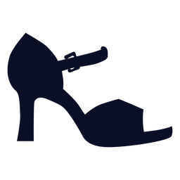 Correa talon sandalias silueta