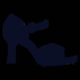 Silhueta de sandália de cinta de salto