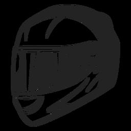 Capacete de ícone de capacete