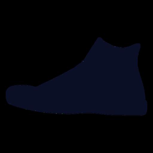 Hi cut sneakers silhouette Transparent PNG