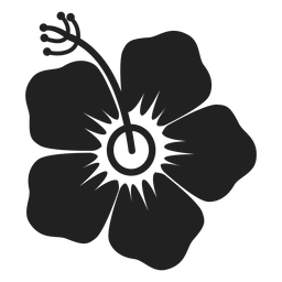Hibiskus-Blume-Symbol