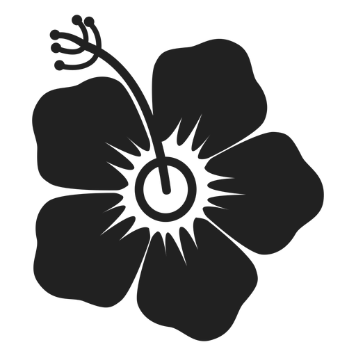 Icono de flor de hibisco Transparent PNG