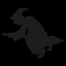 Silhueta de bruxa corcunda