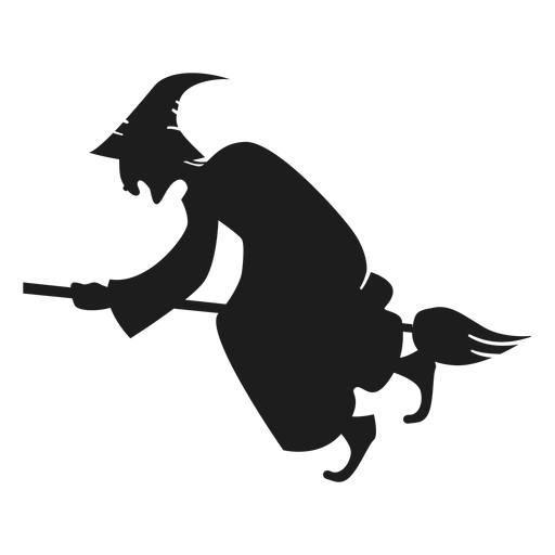 Hunchback witch silhouette Transparent PNG
