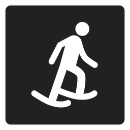 Ice skating square icon