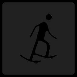 Icono cuadrado de patinaje sobre hielo