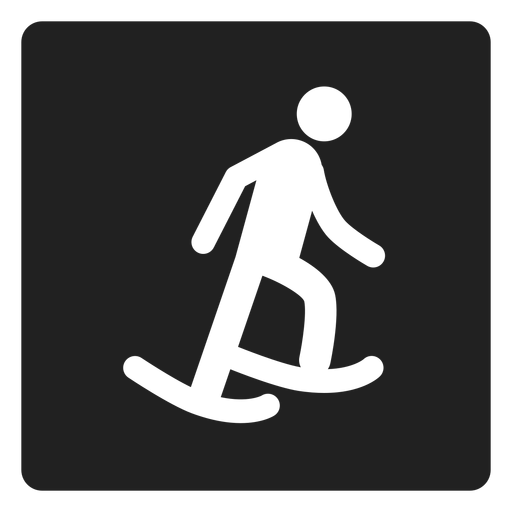 Ice skating square icon Transparent PNG
