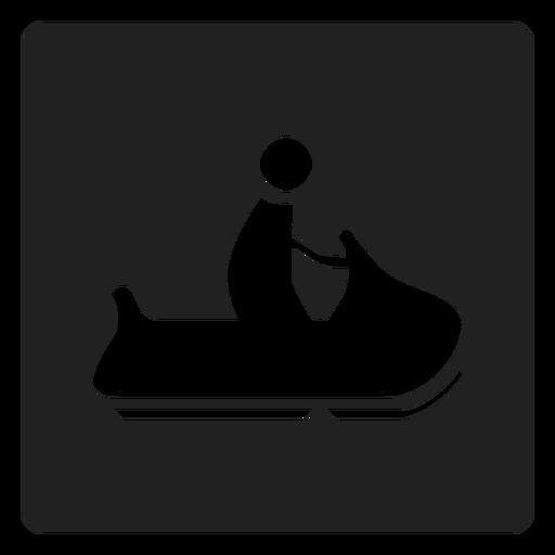 Trineo de hielo icono cuadrado Transparent PNG