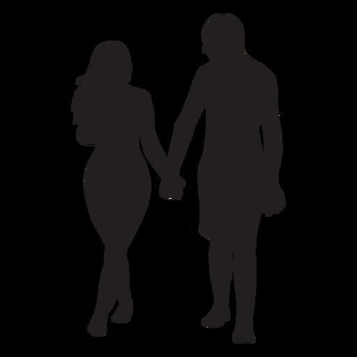 En pareja amor silueta Transparent PNG