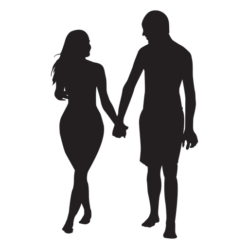In love couple silhouette