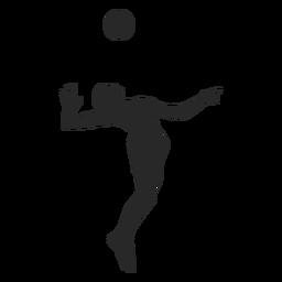 Saltar servir voleibol silueta