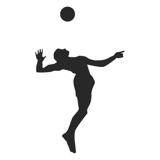 Jump serve volleyball silhouette