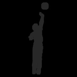 Jump spike silhouette
