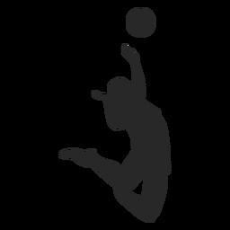 Salto pico voleibol silueta