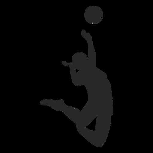 Silhueta de vôlei de pico de salto Transparent PNG