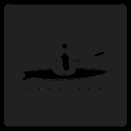 Icono cuadrado de kayak