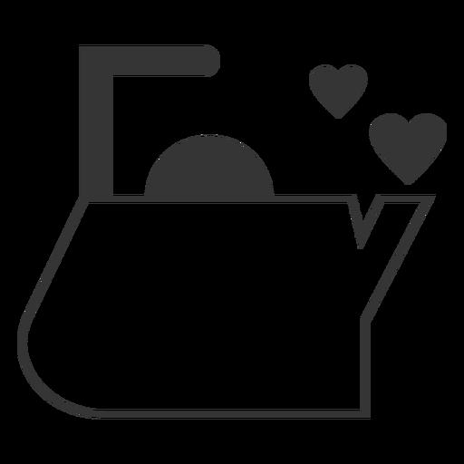 Wasserkocher Herz Linie Stilikone Transparent PNG