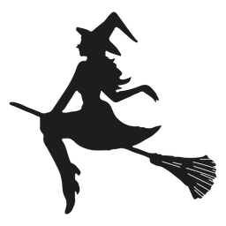 Silueta de mujer bruja