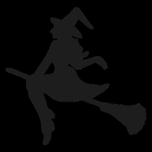 Silhueta de bruxa de senhora Transparent PNG