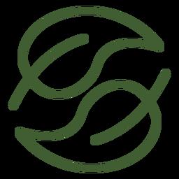 Leaf yin yang icon