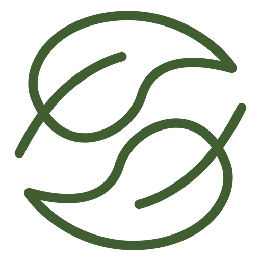 Ícone de folha yin yang Transparent PNG