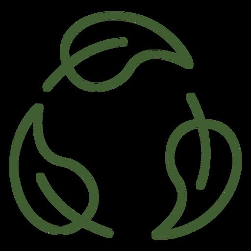 Icono de ciclo de hojas