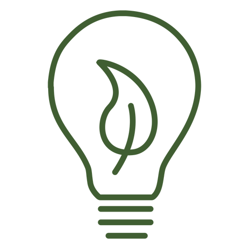Light bulb with leaf inside Transparent PNG
