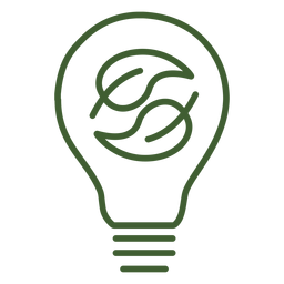 Light bulb with leaves inside icon