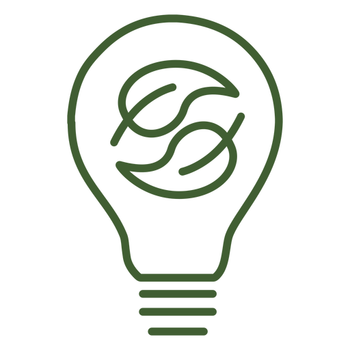 Light bulb with leaves inside icon Transparent PNG