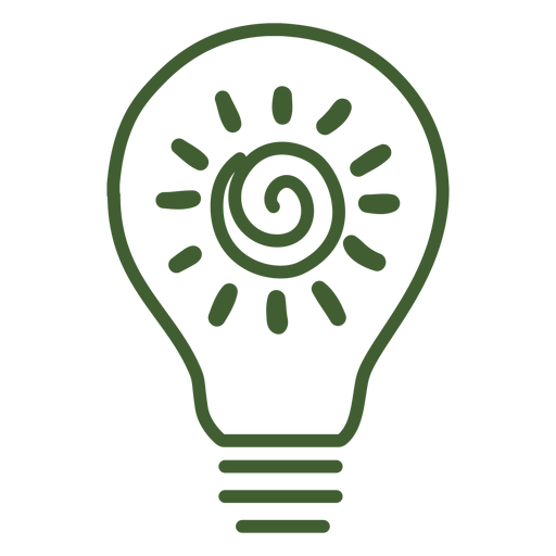 Light bulb with sun inside icon Transparent PNG