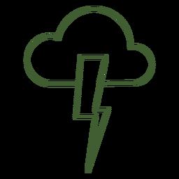 Icono de rayo rayo