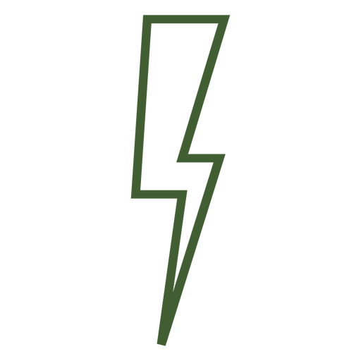 Icono de rayo rayo Transparent PNG