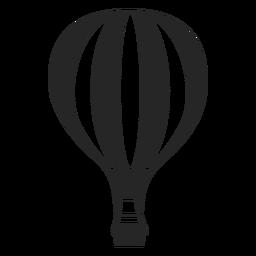 Linea con silueta de globo aerostático.