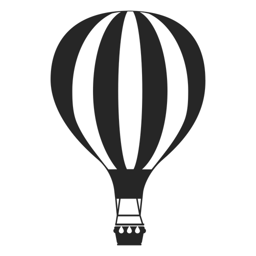 Line patterned hot air balloon silhouette Transparent PNG